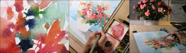 Shari Blaukopf Wet in Wet Watercolor Demo Step (3)