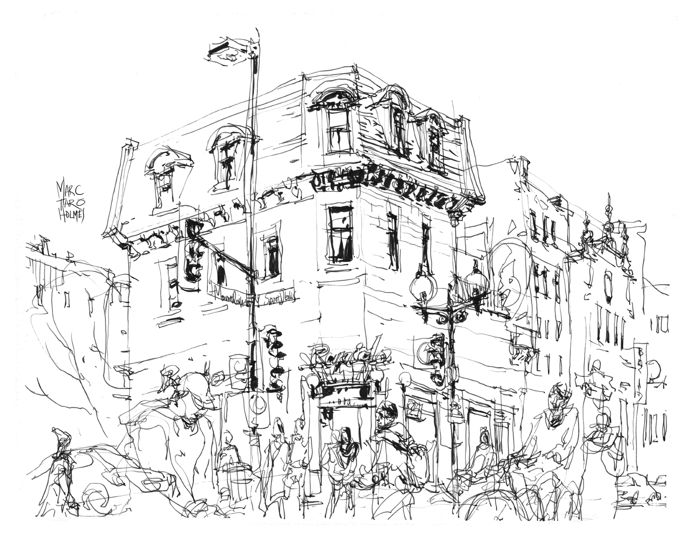 The Watersoluble Pens   Urban Sketchers Montreal