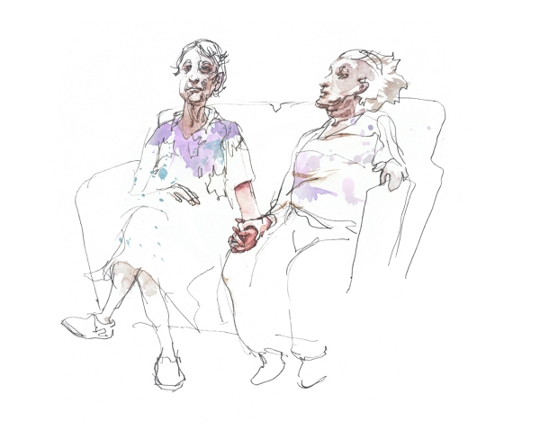 Ladies on Couch_Color