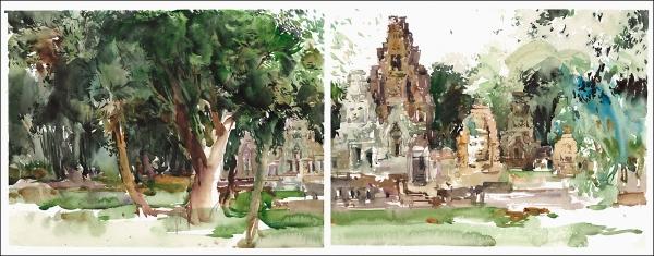 15Jul30_Cambodia_Angkor Thom_Bayon