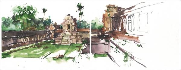 15Jul30_Camboida_Angkor Wat_Interior Courtyard