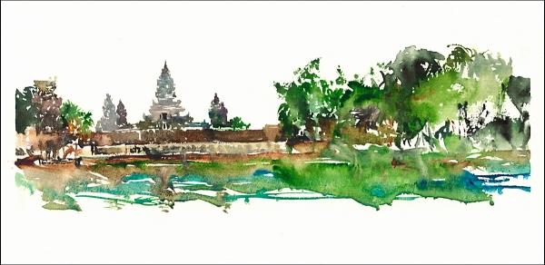 15Jul30_Camboida_Angkor Wat_Rain Sketch