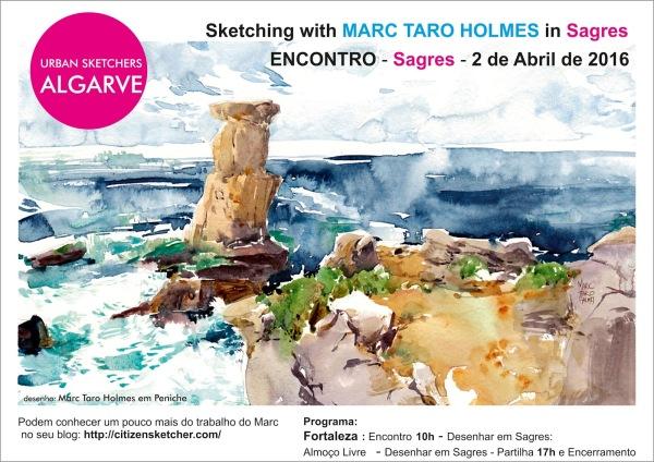 Poster- encontro Sagres with Marc Taro Holmes