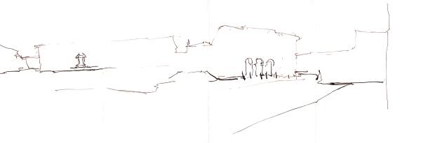 Portugal_Ink Pano01_Old Town Faro_Step02_Ground Line_Medium Nib