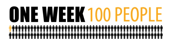 #OneWeek100People_Logo_Generic