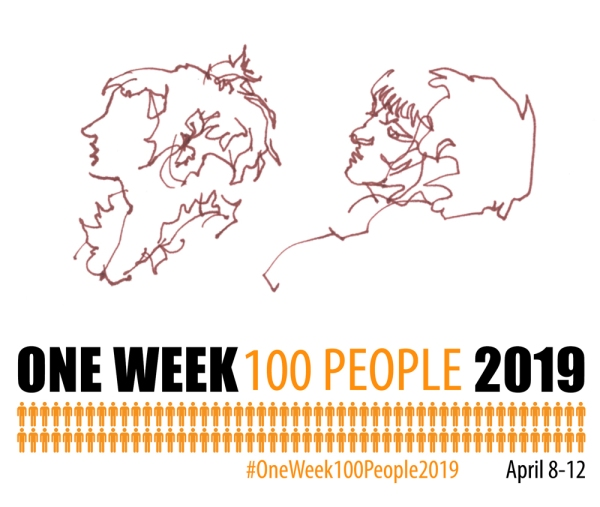 #OneWeek100People2019_Single Line Sketches